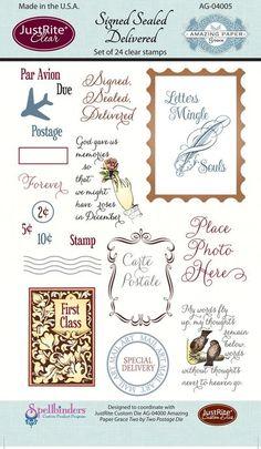 Amazing Paper Graces September Kit Club Stamp Set - Signed Sealed Delivered