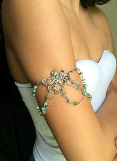 Octopus silver octopus armlet by CaderBugJewels on Etsy