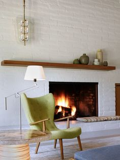Painted Brick Fireplace Design, Pictures, Remodel, Decor and Ideas - page 2