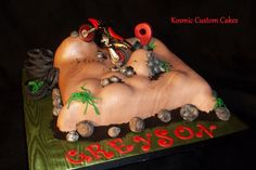 BMX Motorcycle Race Cake For more pics - Find us on Facebook TODAY! Kosmic Custom Cakes