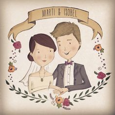 Bespoke Illustrated Save the Date