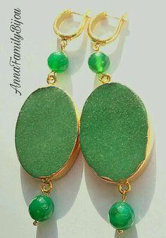 Купить Серьги МАДАМ - зеленый, серьги, серьги ручной работы, серьги с камнями, серьги длинные