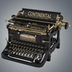 continental vintage typewriter 3d model   ..rh