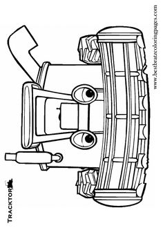 free tractor tom coloring pages - photo#13