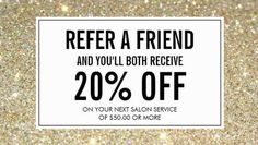 Modern Gold Glitter Salon Referral and Discount Business Cards Mary Kay, Salon Promotions, Nail Salon Decor, Tanning Salon Decor, Beauty Salon Decor, Salon Quotes, Referral Cards, Business Hairstyles, Salon Services
