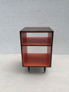 The Side Table Record Cabinet MCM Mid Century Modern Side Table Furniture Vinyl Storage Bed Side Table End Table