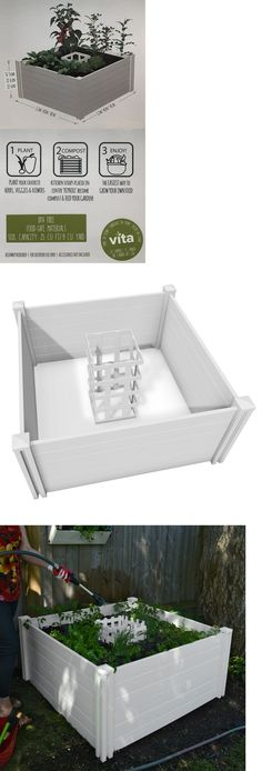 Other Yard Garden and Outdoor 159913: New Keyhold 4Ft X 4Ft White Raised Garden Bed And Composter Gardening And Composting -> BUY IT NOW ONLY: $159.99 on eBay!