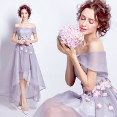 Light purple short long after the dinner party will perform a small wedding dress bridesmaid bride toast service 5598