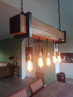 Industrial Interiors, Interior Inspiration, Workshop, Ceiling Lights, Wood, Home Decor, Atelier, Decoration Home, Woodwind Instrument