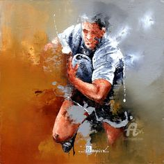Figure Painting, Painting & Drawing, Art Encadrée, Artist Art, Art Sur Toile, Rugby Sport, Art En Ligne, Art Original, World Of Sports