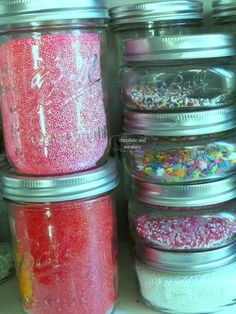Use mason jars to keep your sprinkles super neat!