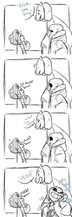 Frisk, Toriel, and Sans - comic - http://ask-goatmom.tumblr.com/post/132444805696/based-on-this-comic-by-kyuudos
