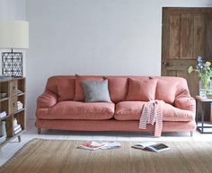 The Hunker Sofa from Loaf Home's Spring 2016 collection. http://www.hglivingbeautifully.com/2016/02/26/home-comforts-lovely-new-things-from-loaf/