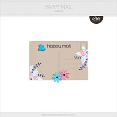 Quality DigiScrap Freebies: Happy Mail sampler freebie from Digital Design Essentials