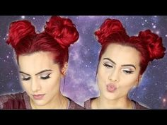 SPACE BUNS/DOUBLE BUNS hair tutorial - YouTube This is the best tutorial! Very informative.