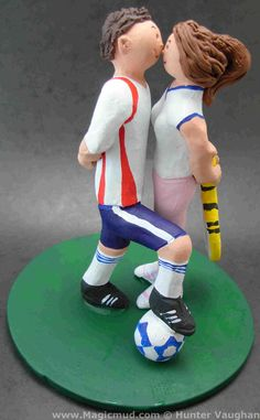 Gorgeous Soccer Wedding Cake Toppers Tutorial | Weddings | Pinterest ...