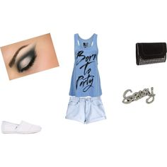 Born to party, created by Addi Butler on Polyvore