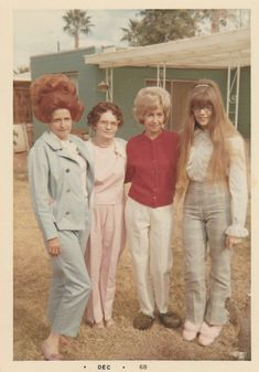 Interesting hairstyles! December 1968.