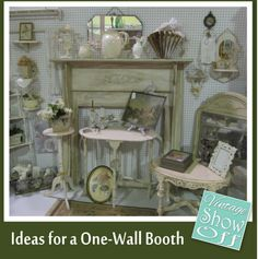 Ideas for Antique Booths with only One Wall - Vintage Show Off