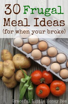 These super frugal meal ideas can help you out when your pockets are empty. They are simple, healthy and cheap.