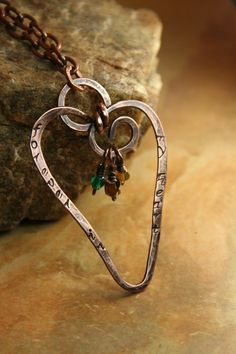 Forever In My Heart Pendant  Hand Stamped by AllowingArtDesigns, $30.00