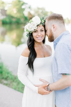 White Maternity Gown, Spring Maternity, Maternity Portraits, Maternity Photographer, Maternity Session, Maternity Pictures, Pregnancy Photos, Family Photographer, Baby Bump Pictures