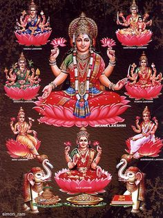 Hindu Art: Ashta Lakshmi Maa -Goddess of Wealth and Prosperity:-) Lakshmi Photos, Lakshmi Images, Radha Krishna Images, Durga Images, Indian Goddess, Goddess Lakshmi, Ganesh Images, Lord Vishnu Wallpapers, Divine Mother