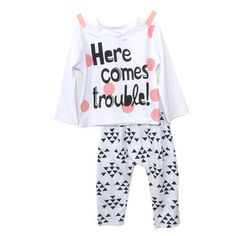 'Here comes trouble' Set #babyclothingset #toddlerclothingset #baby #toddler #fashion #set #clothing #children #boutique #boys #girls #cute #outfits