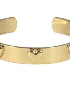 Gold Hearts Cuff Bracelet #heart #gold #jewelry #bangle #cuff #hearts #ustrendy