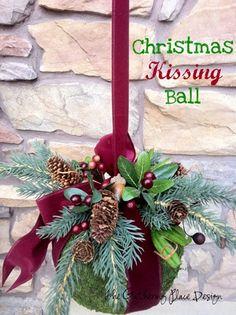 Christmas Kissing Ball. well..... yeah!