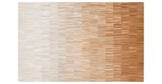 Bolu Leather Rug.  Meticulously handwoven of small leather strips to display a shifting gradient, this rug pairs undeniable luxury with masterful craftsmanship. Because it is made using natural materials, each rug...