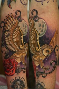 Owl by John Anderton at Nemesis Tattoo at Seaham Co. Durham, UK