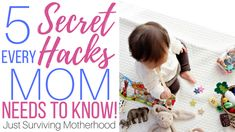 As a mom, our job is 24 hours a day, seven days a week. We don't punch out. We are up with the kids at night. We don't get a day off, and we certainly can't call out sick. Use these secret mom hacks to making mommin' a little easier! Mom Hacks, Baby Hacks, Good Parenting, Parenting Hacks, Every Mom Needs, Family Bonding, Family Game Night, Mom Advice, First Time Moms