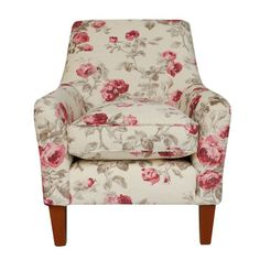 Alicia armchair from Laura Ashley.  Roses in full bloom trail across the velvet cover of this elegant armchair with a plump seat cushion, ideal for a country living room.