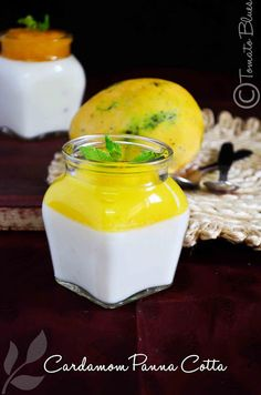 Cardamom Panna Cotta With Peach And Mango Gelee Recipe