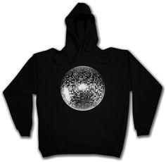 DISCO LIGHT I HOODIE Retro Oldies Nerd Techno Club Mirror Ball Star | eBay