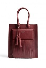 Acne  Burgundy Leather Piers Tote by Acne