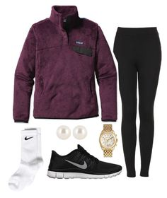 """QOTD:What is your favorite color Patagonia pullover?"" by preppy13 ❤ liked on Polyvore featuring Topshop, NIKE, Michael Kors, Henri Bendel and Patagonia"