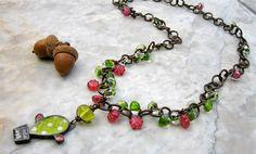 happy go lucky necklace  . . . by marthasrubyacorn on Etsy, $76.00