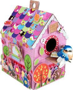 Hermosa casita que las niñas amará hacer ellas mismas, donde su creatividad  la explotarán al máximo www.lacasadelaeducadora.com