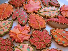 Autumn reds and oranges cookies