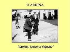 -: Antigas Profissões de Lisboa-o ardina
