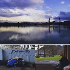 There is both beauty & despair at Tom McCall #waterfront #park. #instagood #poverty #homeless #Portland #Oregon #citypark #citylife #photographer