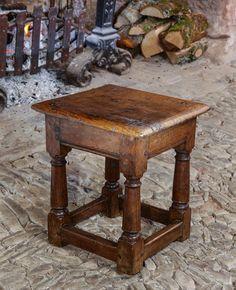 early oak joint stool 17th century