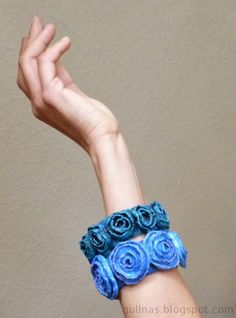 Gulnas' Kunstblog: Recycling – Armreif aus Plastikflaschen und Packpa...