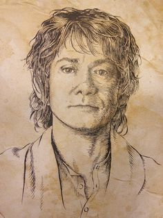 Bilbo Baggins - I love how this drawing looks like both Martin and Ian, without losing either of them.
