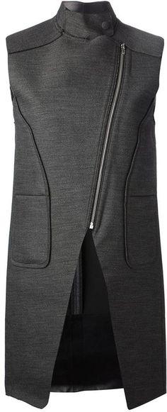 Alexander Wang asymmetric sleeveless jacket on shopstyle.com