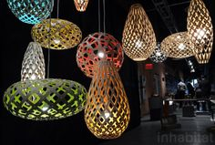 David Trubridge, coral lamp, green lighting, flat pack, sustainable lighting, wanted design, new york design week, ny design week 2012, green design, sustainable design, green furniture, green interiors, green products, sustainable products, eco design