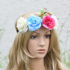 butterfly berry Rose Flower Elasticity Floral Headband Wedding Hairstyles Headwrap Floral Crown Wedding Women Girl Christmas #WeddingHairstyles