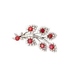 Burmese Ruby No Heat Diamond Flower Pin Ruby Jewelry, Fine Jewelry, Jewellery, Flower Jewelry, Burmese Ruby, Antique Brooches, Flower Brooch, Brooch Pin, Diamond Flower